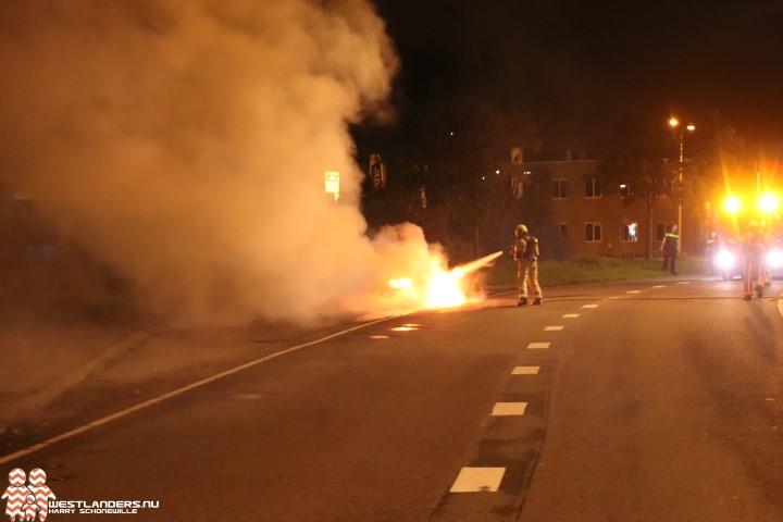 Autobrand aan de Jogchem van der Houtweg