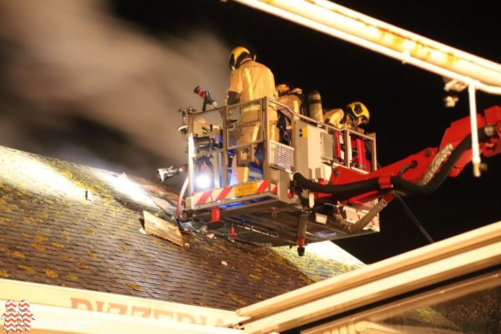 Zeer grote brand bij restaurant Salvatore