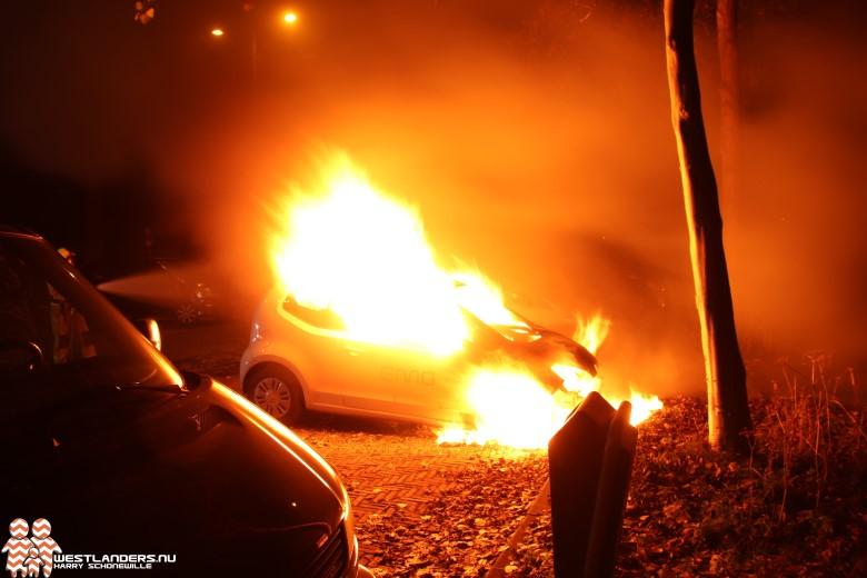 Auto uitgebrand aan de Madepolderweg