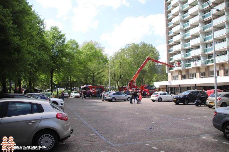 Middelbrand in flatgebouw aan Forellendaal