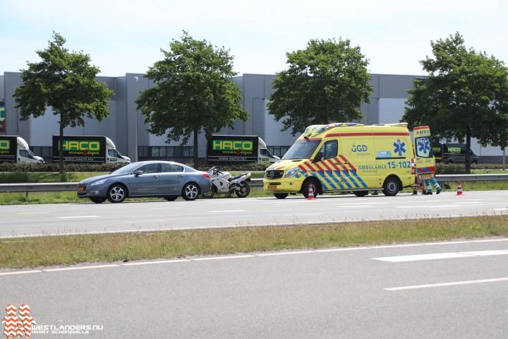 Motorrijder gewond na ongeluk Westerlee