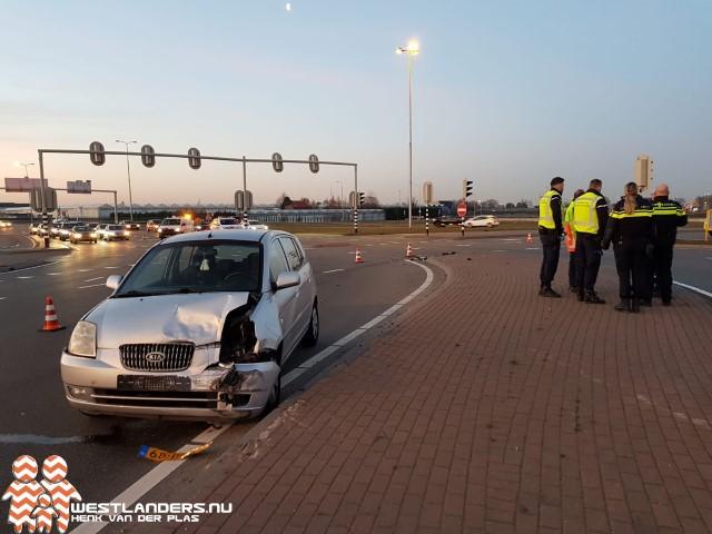 Licht gewonde bij ongeluk op Westerleeplein