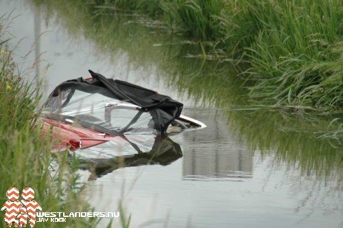 Auto te water langs de A20
