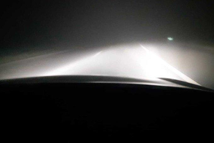 Hard rijden op A4 in zeer dichte mist