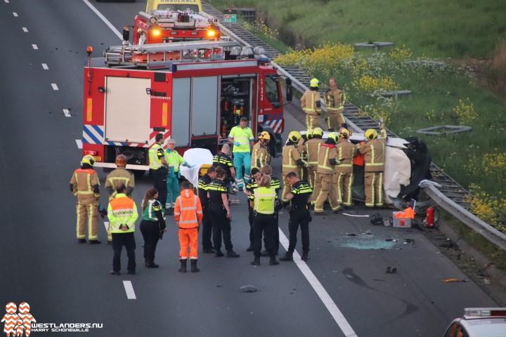 Man gewond bij eenzijdig ongeluk A4