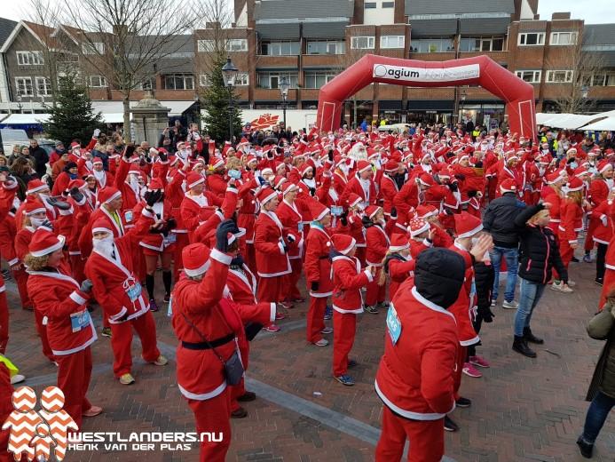 Winterse tweede Santarun in Naaldwijk