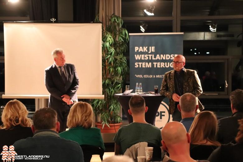 Geslaagde avond LPF Westland met Jan Dijkgraaf