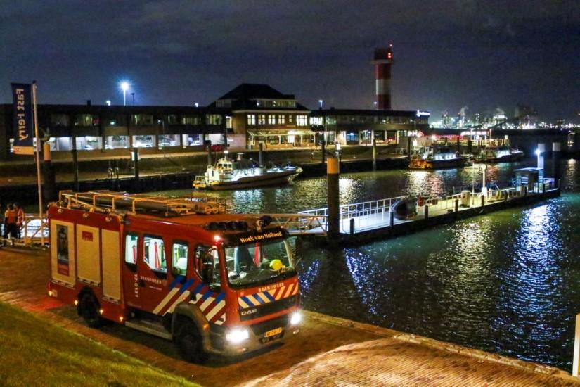 Explosie op binnenvaartschip bij Berghaven