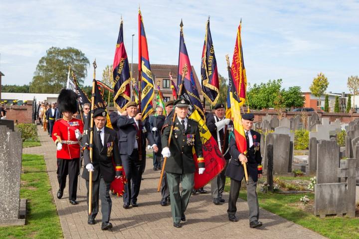 Herdenking Welsh Guard Pilgrims in Hoek van Holland