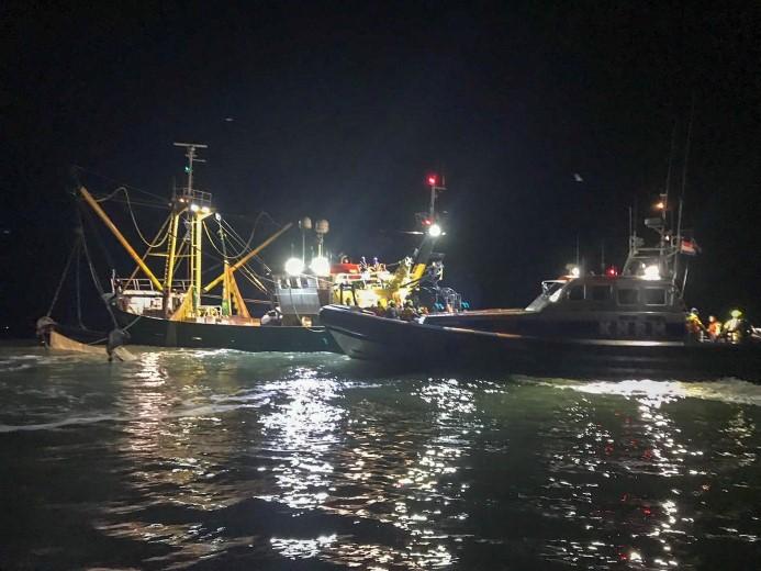 Licht gewonde bij scheepsbrand Noordzee