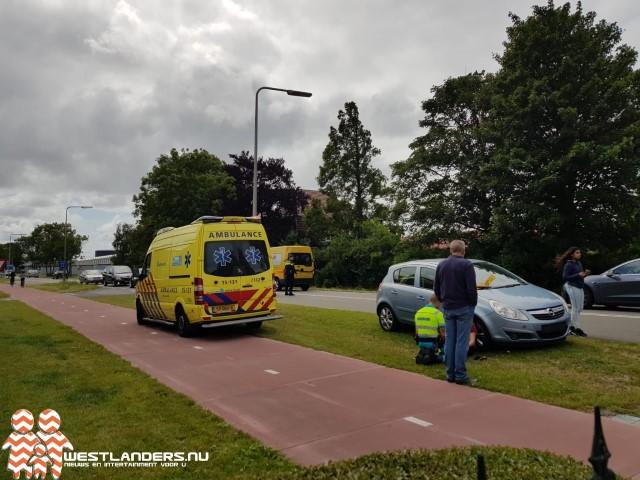 Klein ongeluk op de Middel Broekweg