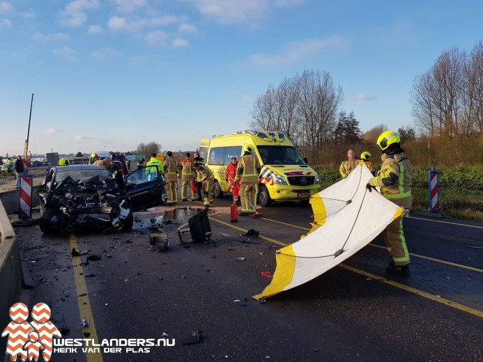 Automobilist zwaar gewond na ongeluk Veilingroute