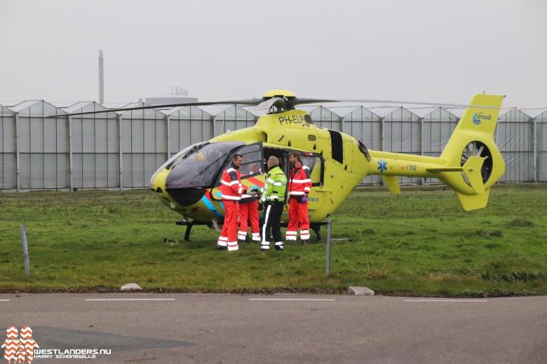 Traumahelikopter naar de Van Ockenburchlaan
