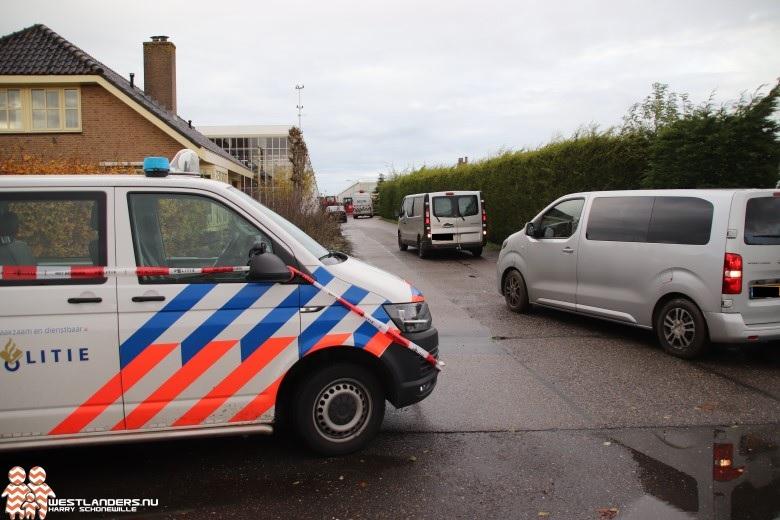 Politieonderzoek bij woning Sprongenloet