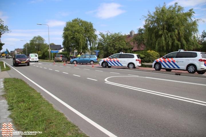 Wielrenner gewond na ongeluk Middel Broekweg