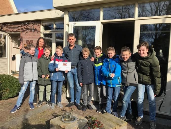 Groep 8 Bernadetteschool zamelen geld in voor GEF