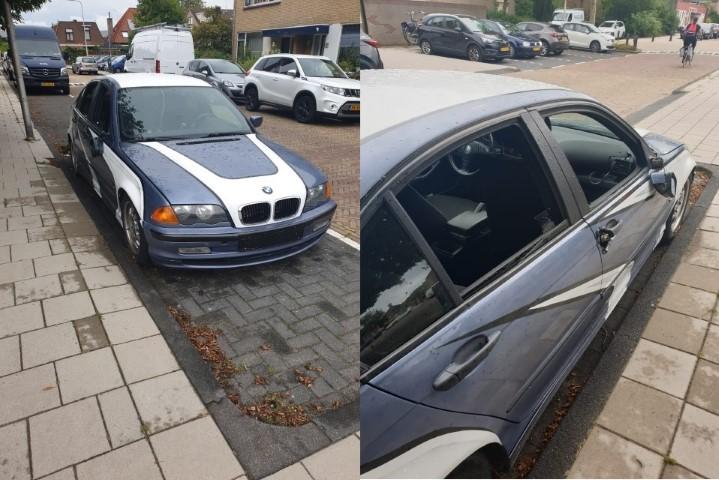 Gedumpte BMW Prinsenlaan eindelijk verwijderd