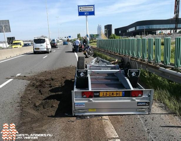 Ongeluk op A20 zorgt voor veel vertraging