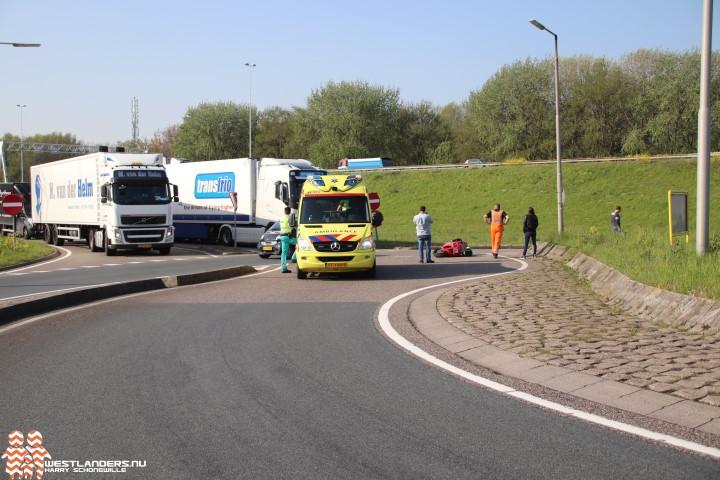 Motorrijder licht gewond bij ongeluk Coldenhovelaan