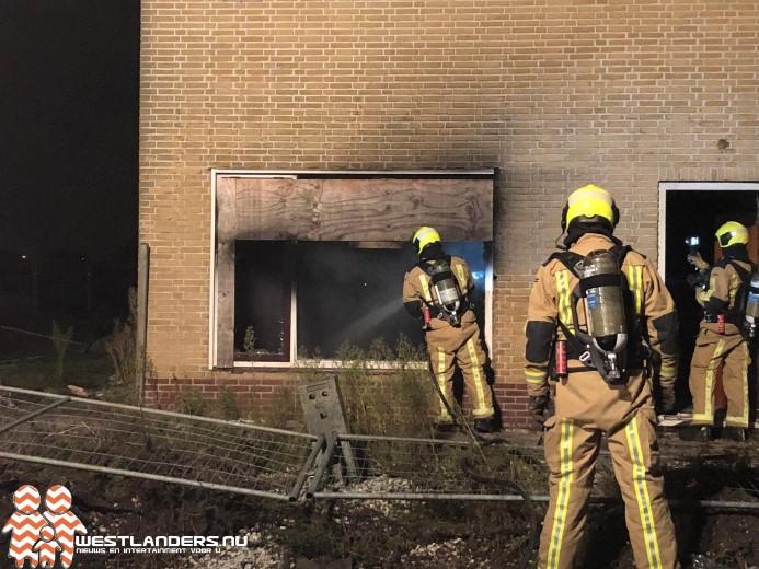 Brand in slooppand Oudedijk