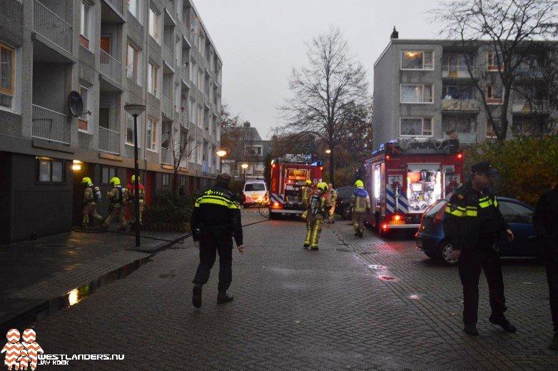 Middelbrand aan de Jongkindstraat