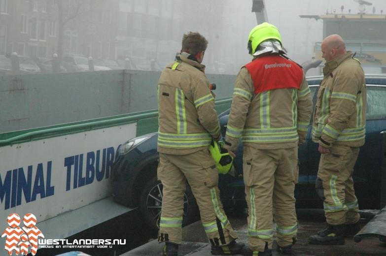 Explosie blijkt botsing van auto tegen schip