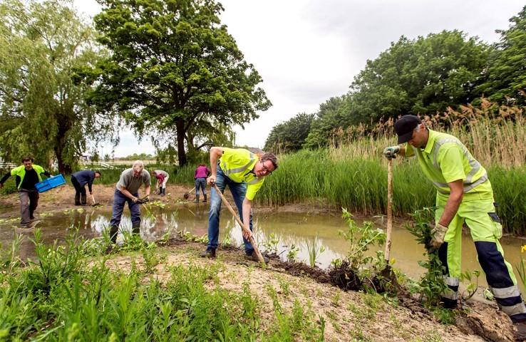 Bewoners helpen met vergroenen Wipperspark