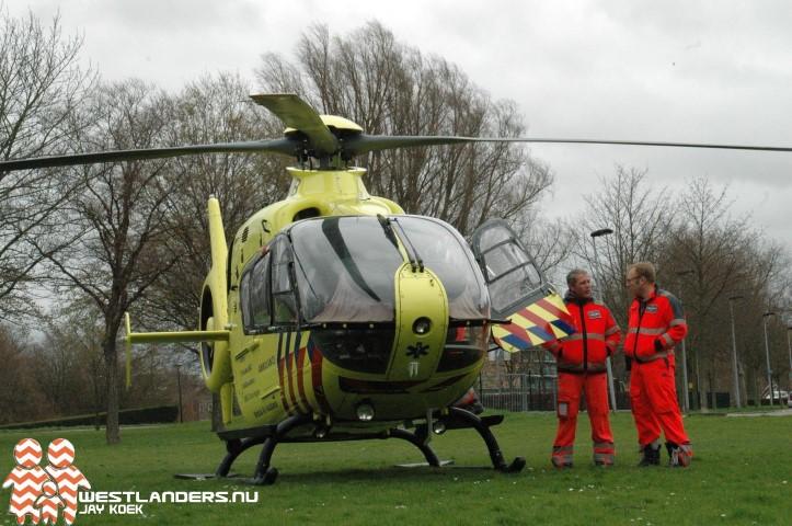 Inzet traumahelikopter aan de Schubertlaan