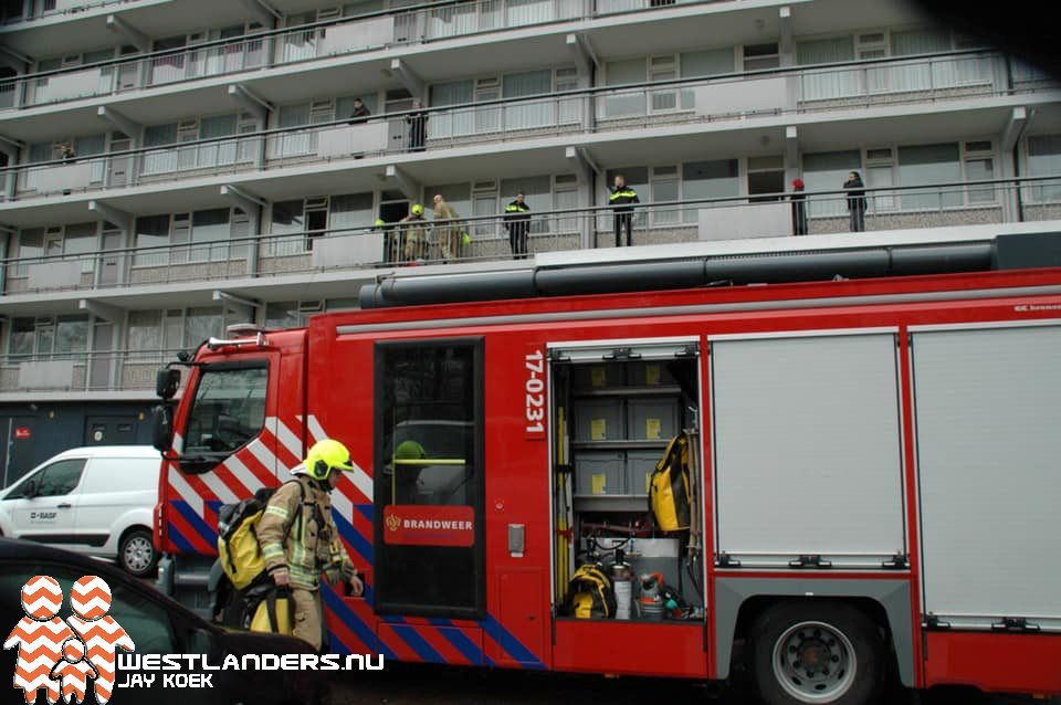 Keukenbrand aan de Burgemeester Zaneveldstraat