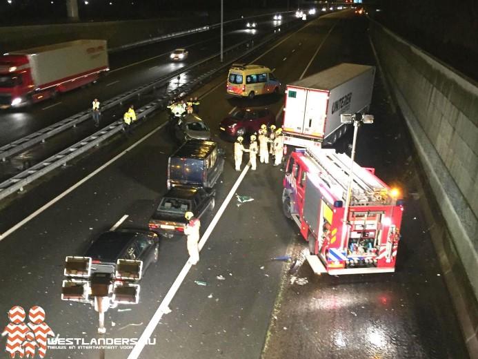 Drie gewonden bij ernstig ongeluk rijksweg A4