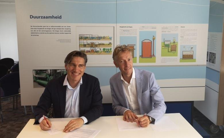 Groen gas overeenkomst tussen Delfland en Westland Infra