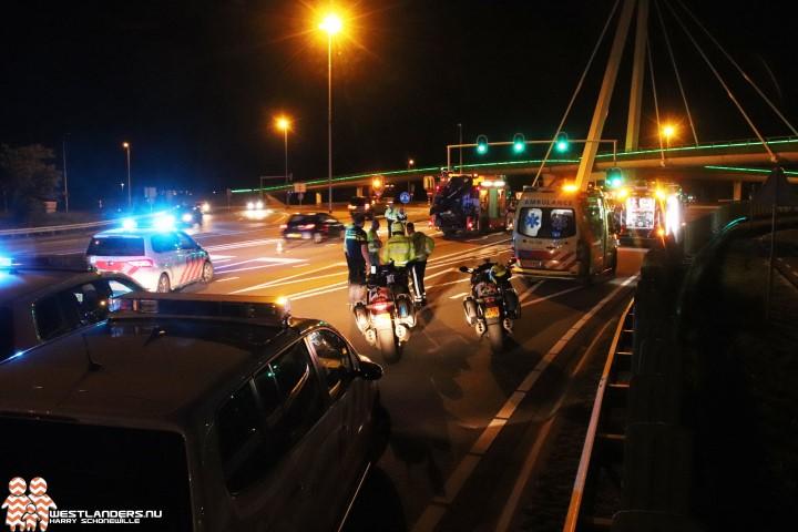 Motorrijder gewond na schuiver bij Vlietpolderplein