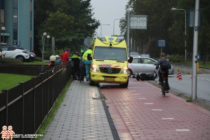 Scooterrijder gewond na ongeluk Middel Broekweg