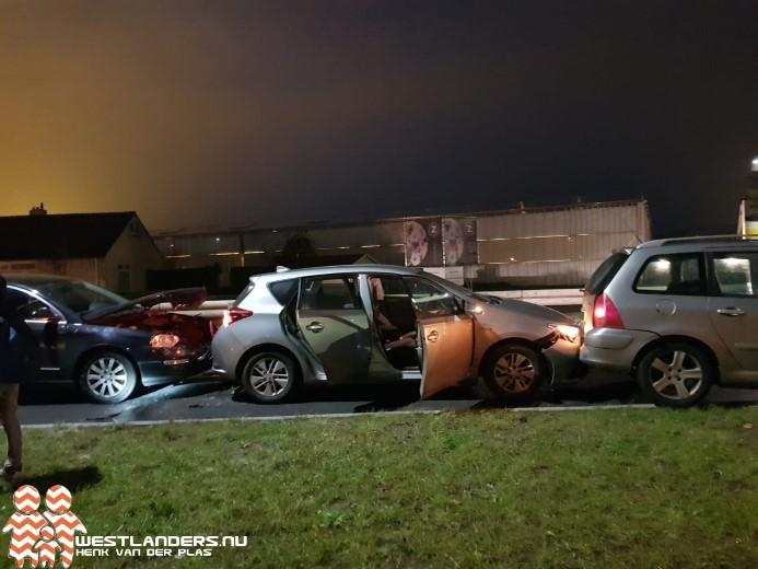 Licht gewonde bij kettingbotsing Nieuweweg