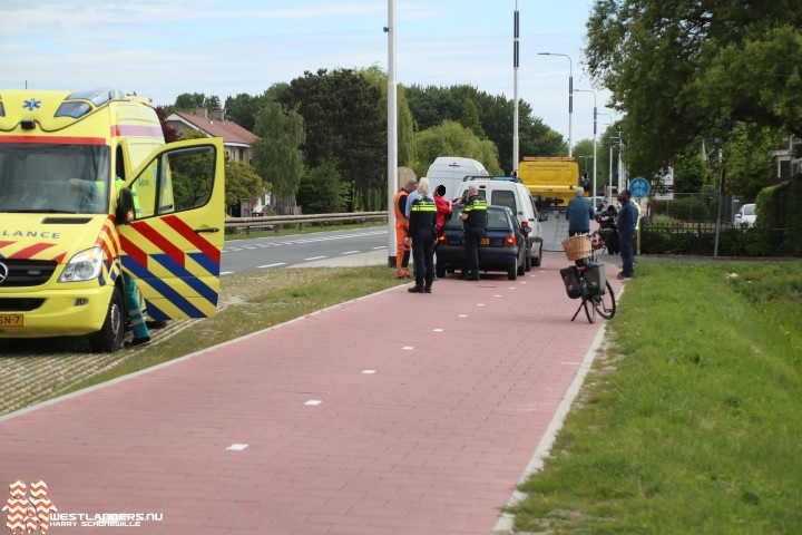 Kop-staart ongeluk op de Nieuweweg