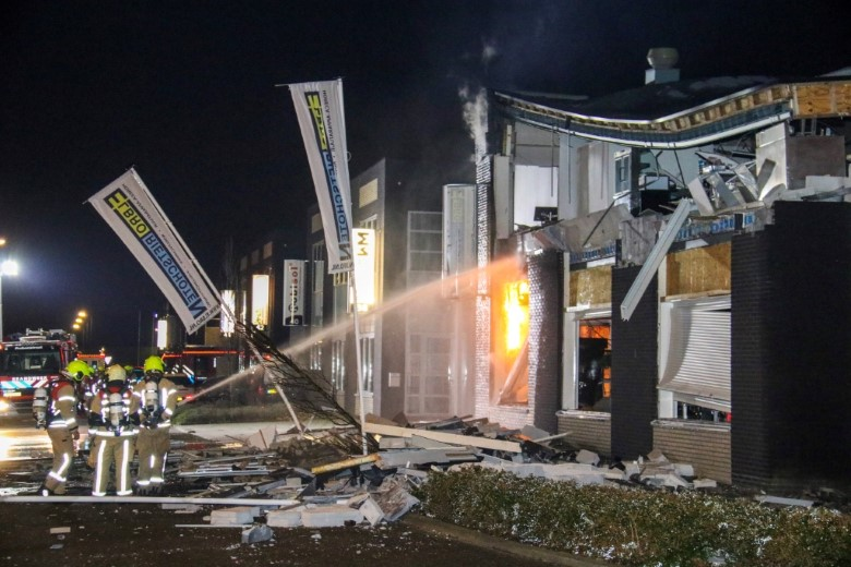Bedrijfpand Kiotoweg ingestort na explosie