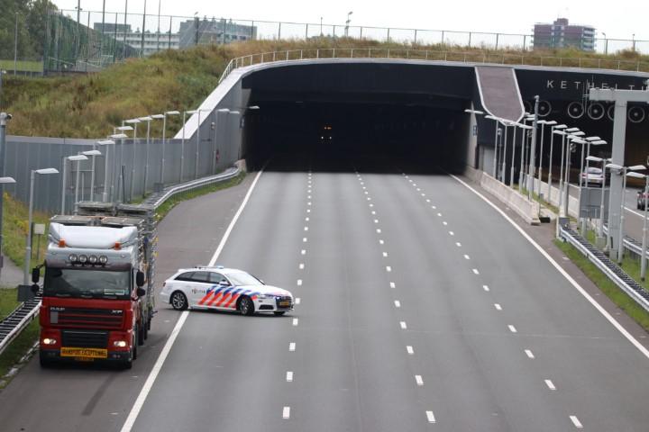Ketheltunnel richting Delft afgesloten na incident