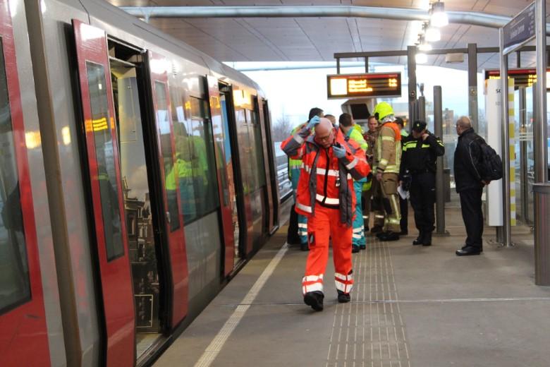 Geen metroverkeer na ongeval Schiedam