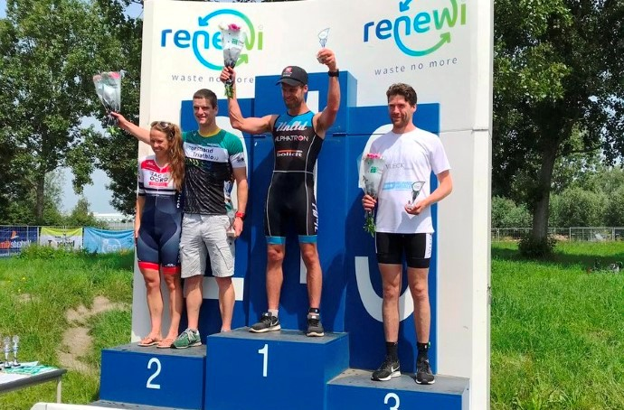 Christiaan Solleveld winnaar Westlandse triathlon