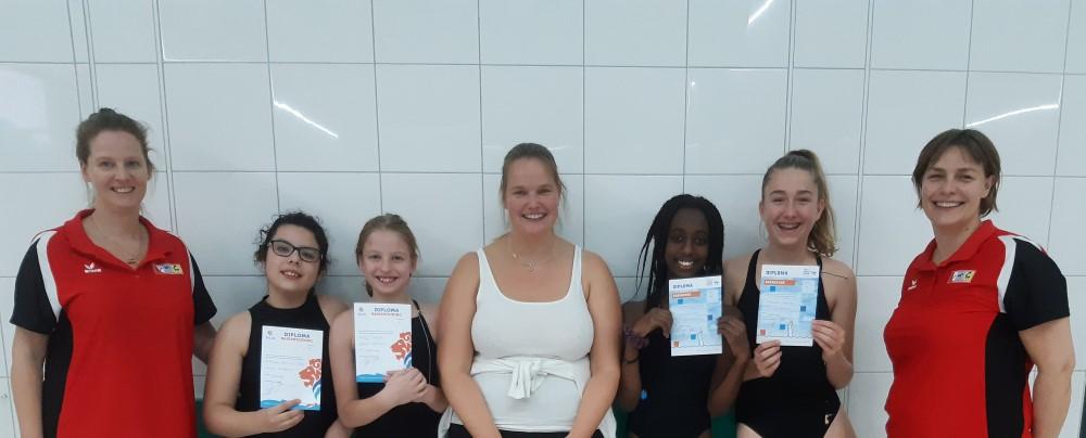 Diploma zwemmen voor synchroon zwemsters