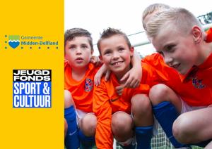 Midden-Delfland verlengt samenwerking met Jeugdfonds Sport & Cultuur