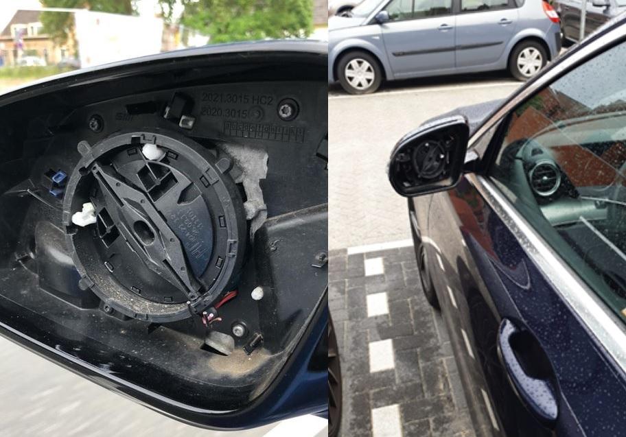Autospiegeldieven slaan weer toe