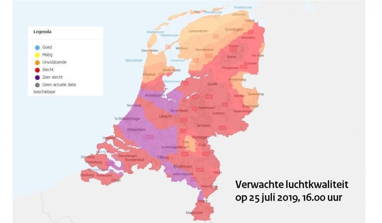 Smogalarm in delen van Nederland