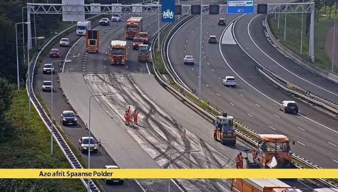 A20 bij Spaanse Polder afgesloten vanwege spoedreparatie