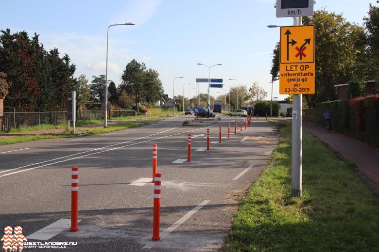 Verkeerssituatie bij ongelukken-hotspot Grote Achterweg gewijzigd