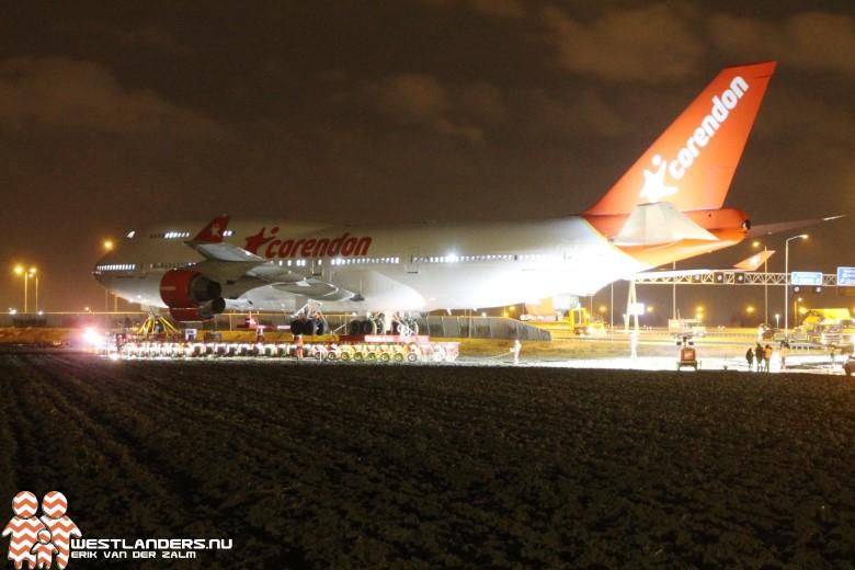 Rijksweg A9 dicht voor Boeing 747