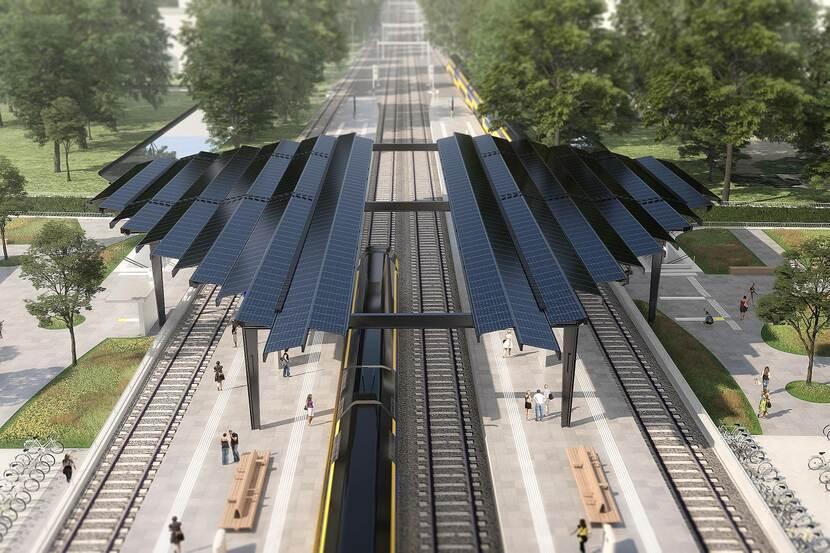 Delft wordt 1e energieneutrale treinstation van Nederland