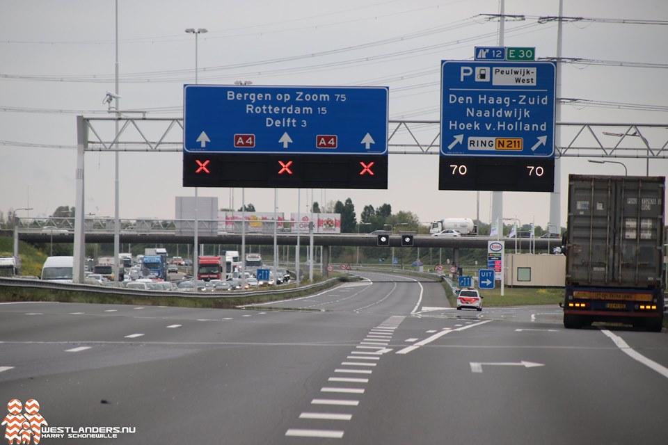 Dit weekend onderhoudswerkzaamheden snelweg A4