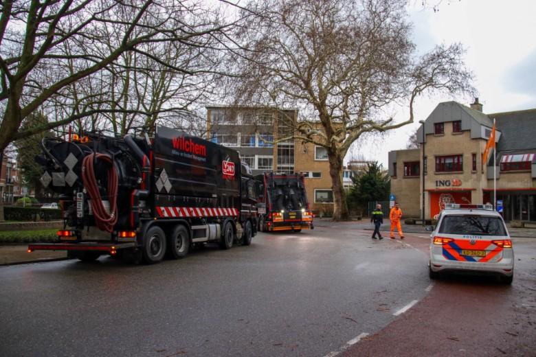 Wegen urenlang dicht door oliespoor RET bus