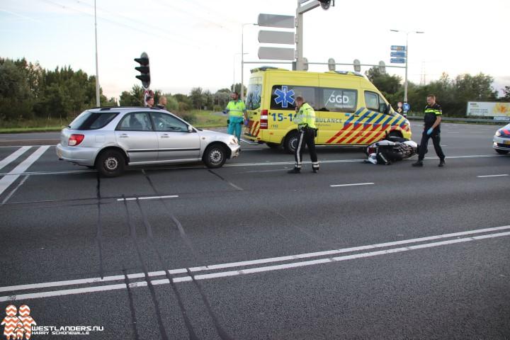 Motorrijder gewond na ongeluk Wippolderlaan